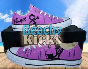 b4fedba68d72 Purple Rain Custom converse   Prince Tribute shoes   Birthday Gifts   Free  US Shipping