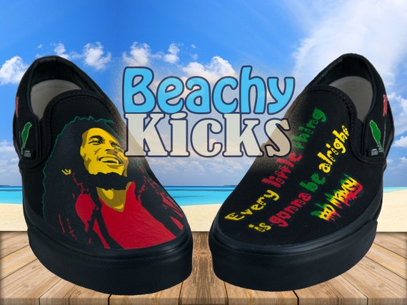 Bob Marley Custom Vans * Hand Painted shoes * Birthday Gifts * Free US Shipping