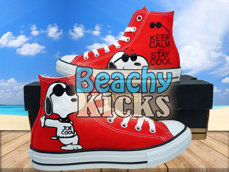 a076008b6729b6 Snoopy Custom converse Hand Painted shoes Birthday Gifts