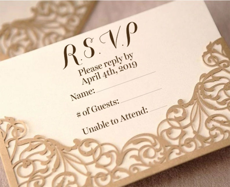 Custom Classic Script RSVP Stamps | Personalized RSVP Stamp | Customized  Wedding Rubber Stamp | Do it Yourself RSVP |