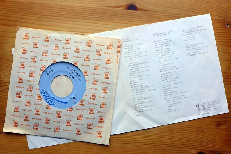 Anime City Hunter Ending Song Get Wild Vintage Vinyl Record 7 Single