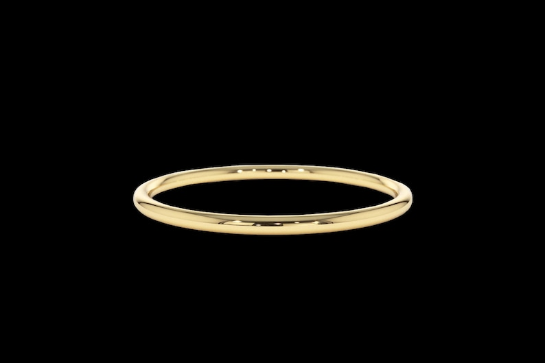 Sizes G - Z Solid Real 9ct YellowRose Gold 2mm D shape Wedding Band
