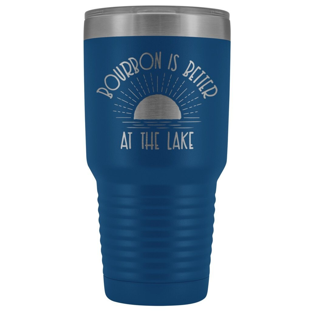 Life is Better at the Beach Tumbler Gift 30 oz Light Blue