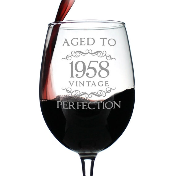 Vintage Aged To Perfection 1990 30th Birthday Wine Glass Stemless or Stemmed