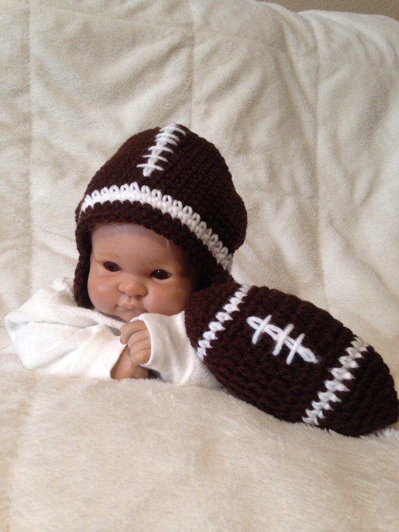 eb106d71177 Baby Football Hat Football Hat Crochet Football Hat Baby