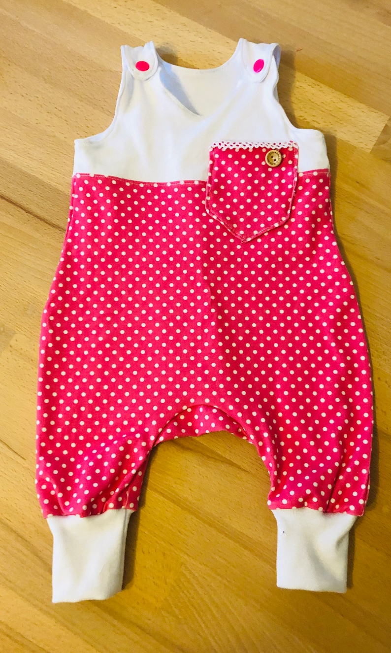 mint or pink Romper Polkadots with chest pocket dots