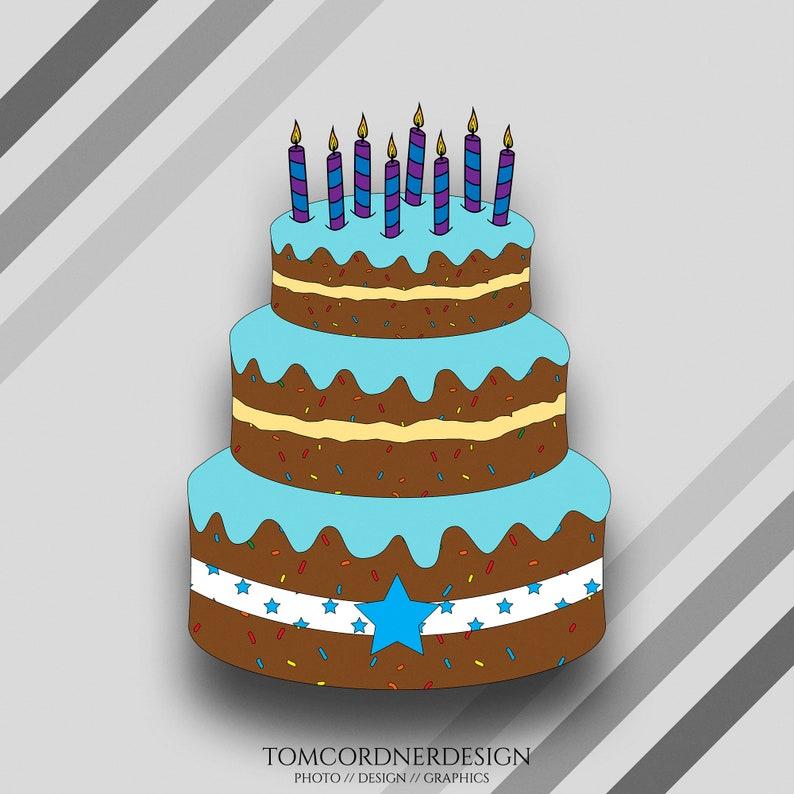 Birthday Cake Svg Birthday Cake Clipart Birthday Cake Etsy