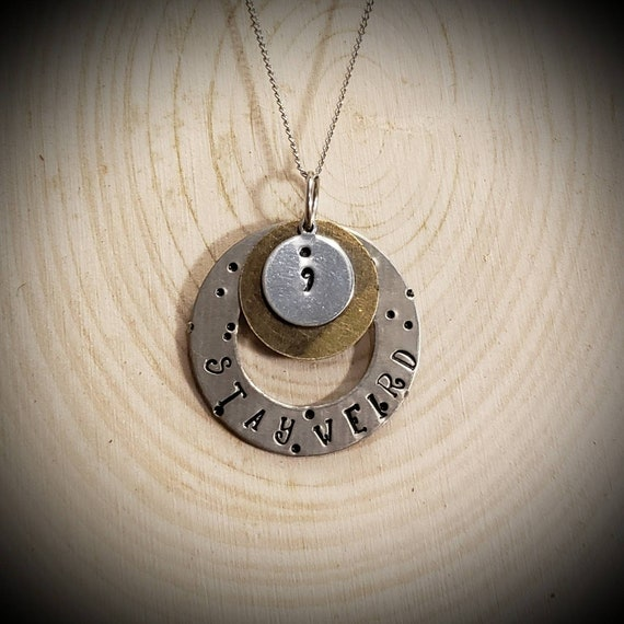 Unique stamped necklace for the confident self loving individual !