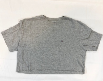 49760ccb834 Gray Tommy Hilfiger crop top t shirt
