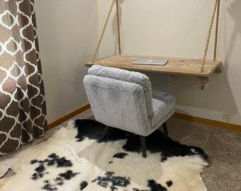 Rustic farmhouse rope desk