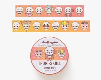 Tropical Skull Washi Tape