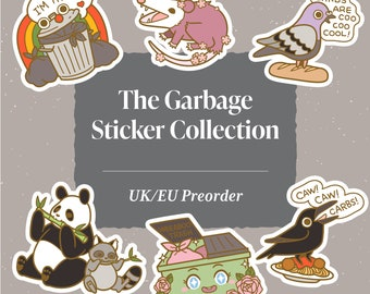 Garbage Stickers: (UK/EU Preorder)