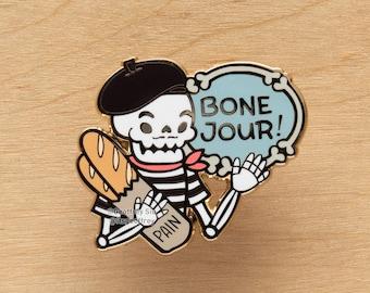 Bone Jour Hard Enamel Skeleton Pin