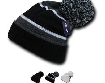 17806aad 1 Dozen Wholesale Blank Giant Pom Knit Beanies - Decky 689