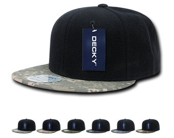 separation shoes a5072 c8e5f Lot of 6 Bulk Camo Bill Snapback Flat Bill Hats - Decky 356