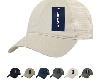 f90f035e 1 Dozen Wholesale Blank Trucker Mesh Dad Hats - Decky 120