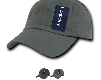 9e8744ea Lot of 6 Bulk Blank Washed Polo Dad Hats - Decky 760