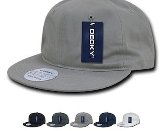 5649cae9 Lot of 6 Bulk Blank Relaxed Snapback Flat Bill Dad Hats - Decky 370