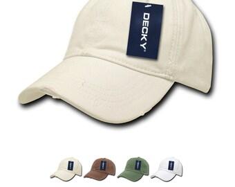 da380ff3 1 Dozen Wholesale Blank Fitted Distressed Vintage Dad Hats - Decky 860