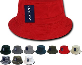 f485fce2 Lot of 6 Bulk Blank Polo Bucket Hats - Decky 961