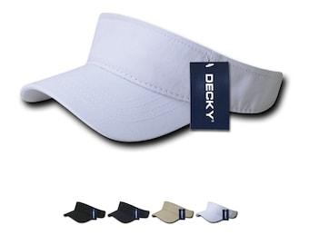 0c35027a 1 Dozen Wholesale Blank Polo Visors - Decky 962