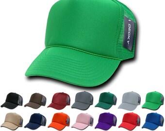 ca3d01a8 1 Dozen Wholesale Blank Trucker Foam Mesh Baseball Hats - Decky 211