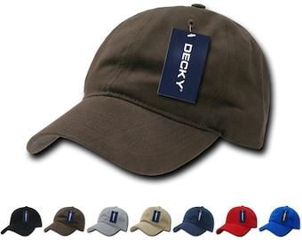 0889ea87 1 Dozen Wholesale Blank Cotton Relaxed Dad Hats - Decky 307