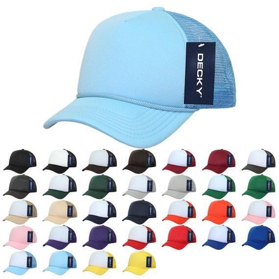 DECKY TWO TONE FLAT BILL RETRO FOAM MESH TRUCKER HATS HAT CAPS CAP SNAPBACK 224