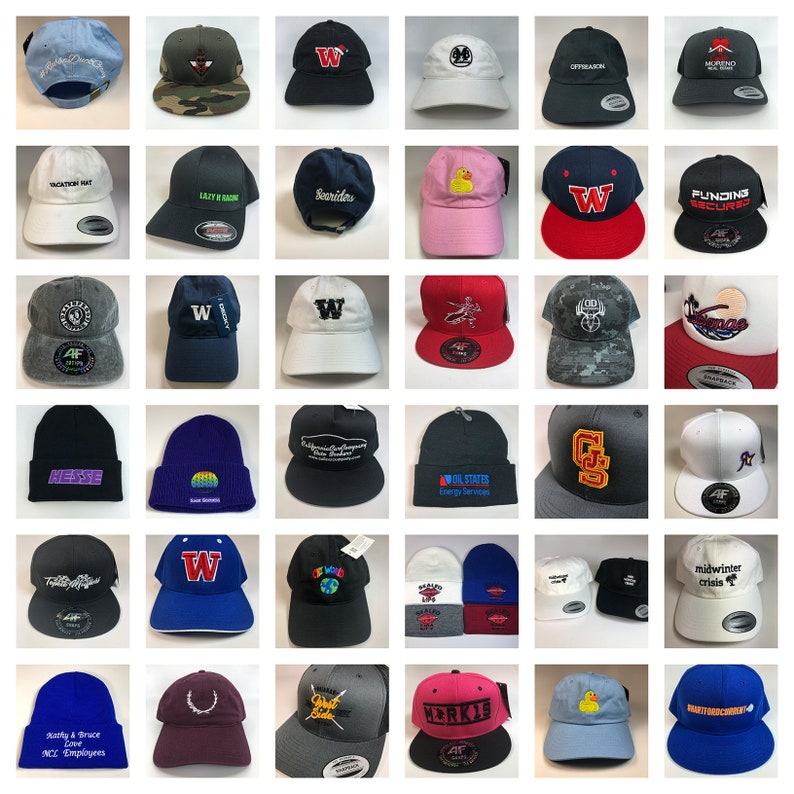 36 Custom Embroidered Hats & Caps in Bulk — Hat Embroidery with Logo