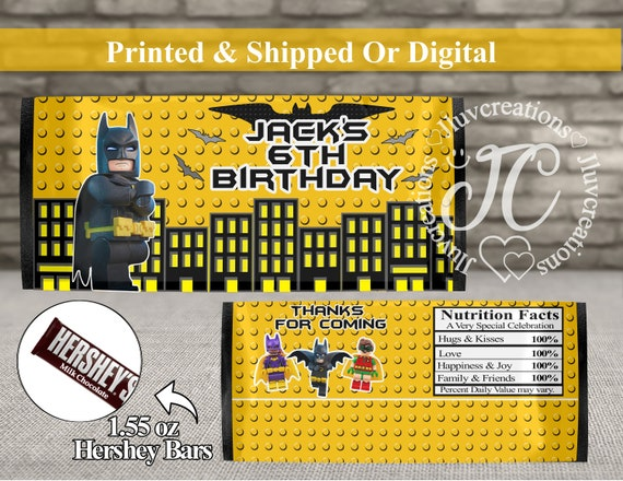 Personalised Lego Batman inspired Birthday Paper
