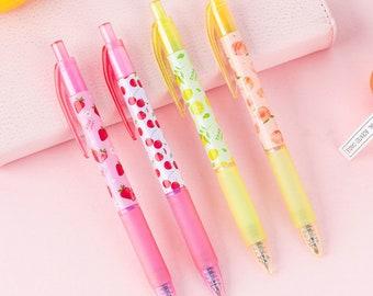 Kawaii Fruit Pen Black Ink Pen Pineapple Pen Fruit Gel Pen
