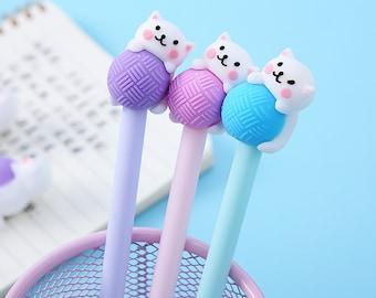 Cute Cat Pens, Kitty Pens, Playful Cat Pens, Cat Stationery, School Supplies, 1 pc