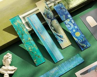 Night Sky Acrylic Ruler, Starry Night Ruler, Nature Scene Ruler, Ruler with Artwork, Straight Ruler, Kawaii Stationery
