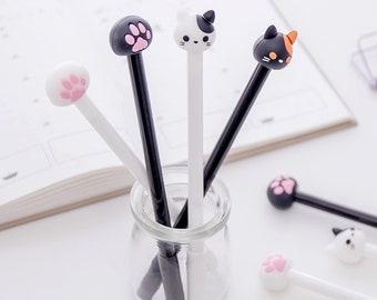 Cute Cat Pens, Paw Pens, Kawaii Stationery Gift, School Supplies
