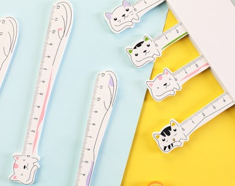 Cat Ruler, Wooden Ruler, Cute Cat Stationery, Ruler, School Supplies, Kawaii Stationery, Back to School