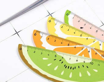 Fruit Wooden Ruler, Cute Stationery Gift, School Supplies, Kawaii Stationery, Back to School