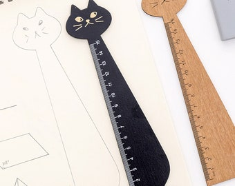 Cute Cat Wooden Ruler, Cute Stationery Gift, School Supplies, Kawaii Stationery, Back to School