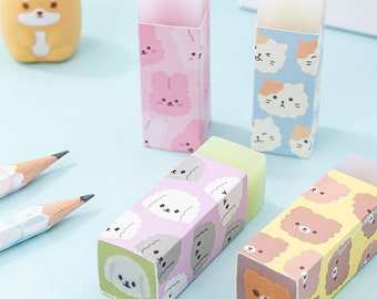 2 x Cat Erasers,  Cute Cats Pencil Rubber, Novelty Cat Stationery, School Supplies, Office Supplies, Stationery Gift