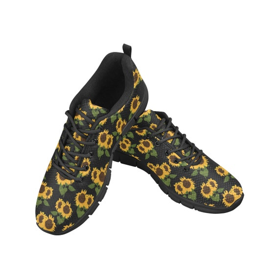 Comfort Women Lightweight Mesh Shoes Sunflower Flower Sunflower Plant Sneakers Walking Rubber Sole