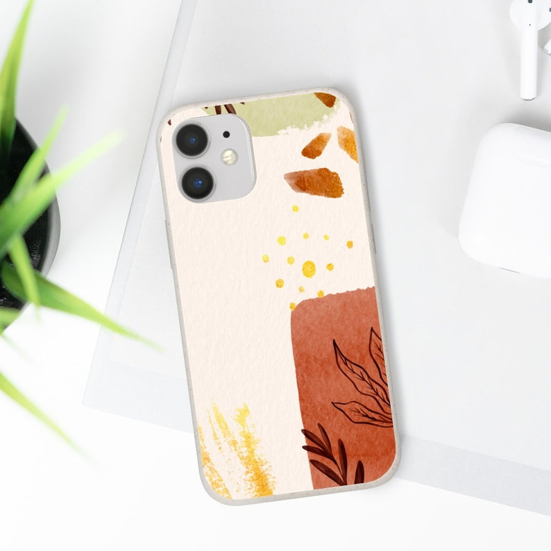 Modern Fall Color 11 Pro Vegan Biodegradable Plant Samsung Galaxy S20 Ultra Eco Friendly Compostable Zero Waist Abstract iPhone 12 Pro Case