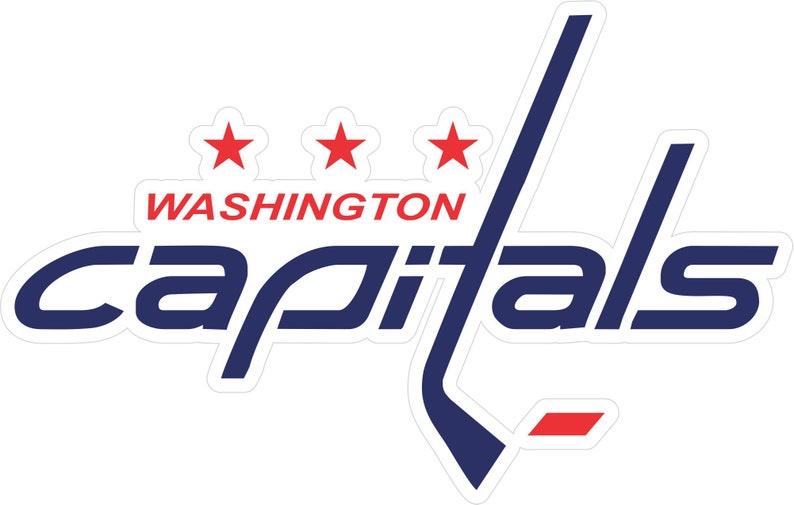 Washington Capitals Logo Color Die Cut Vinyl Decal Sticker You Choose Size