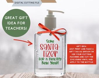 Santa Hand Sanitizer Holder ***Super Stocking StufferTerrific Teacher Gift Idea ***Optional Personalization***