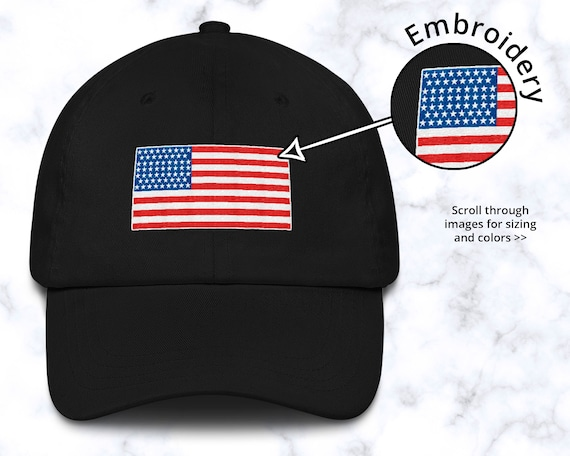 Patriotic Hat With Embroidered Proud American Flag America Cap