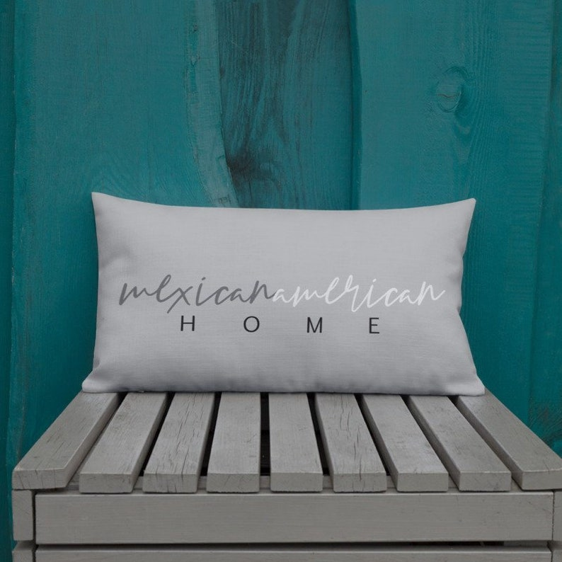 Mexican American Home Pillow 20x12 Decorative Welcome Pillow image 0