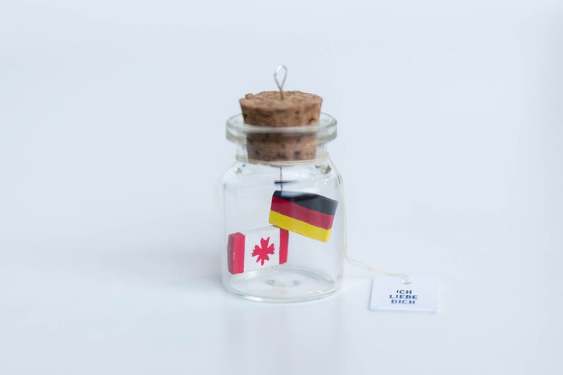 I LOVE YOU Miniature Bottle for Multicultural couples Mini image 0