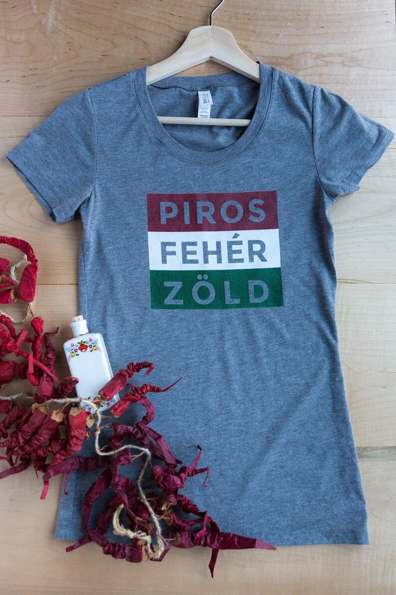 Piros Fehér Zöld Hungarian T-Shirt Hungary Flag Hungary image 0
