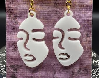 Blank face earrings