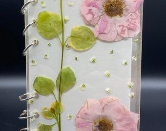 Rose gold resin journal/sketchbook