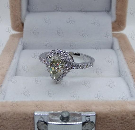 Solid 14k Rose Gold Oval 2.15 Ct White Brilliant Moissanite Engagement Ring