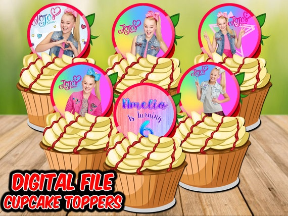 Jojo Siwa Birthday Cupcake Toppers Party